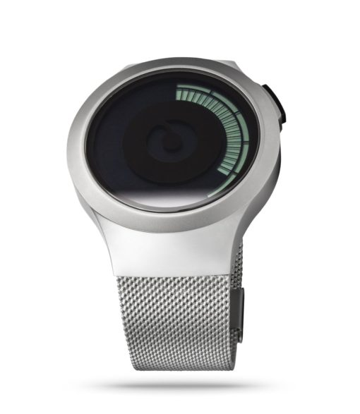 ZIIIRO Saturn Chrome Watch Perspective Slant