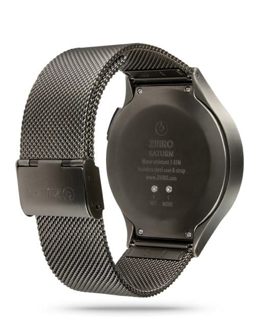 ZIIIRO Saturn Gunmetal Watch Back