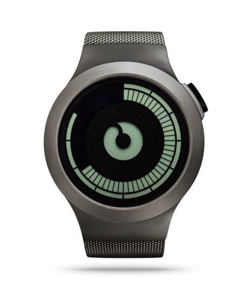ZIIIRO Saturn Gunmetal Watch Front