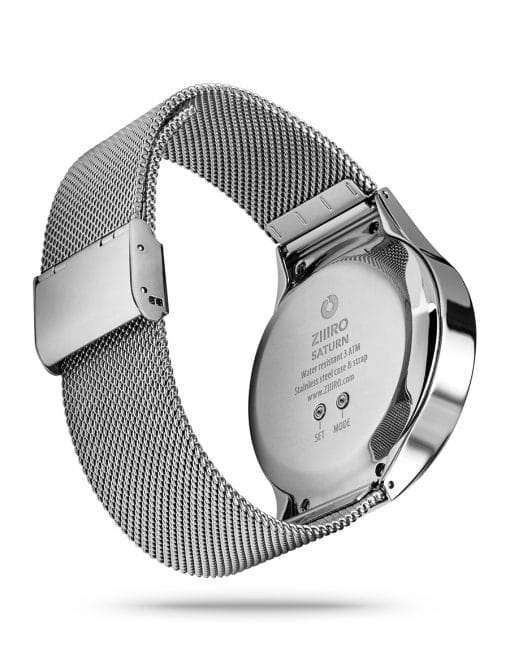 ZIIIRO Saturn Silver Watch Back