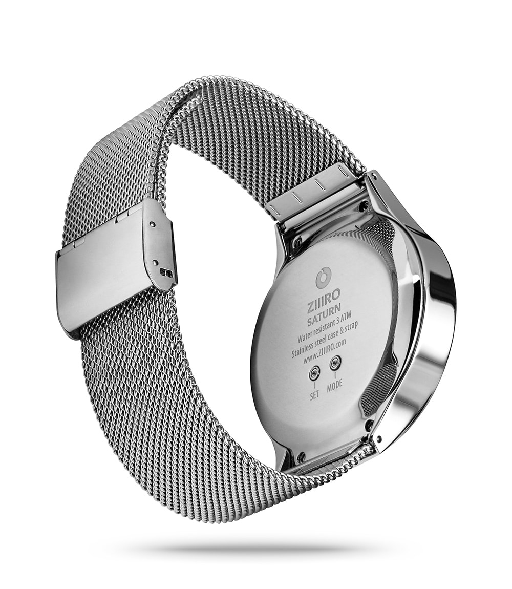ZIIIRO Saturn Silver Watch Back