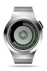 ZIIIRO Saturn Silver Watch Front