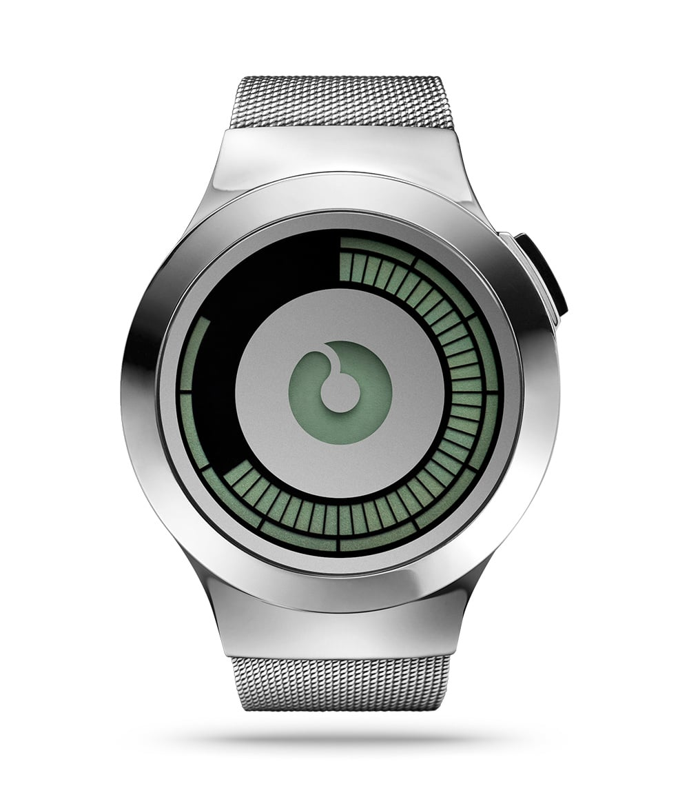 ZIIIRO Saturn Silver Watch Front
