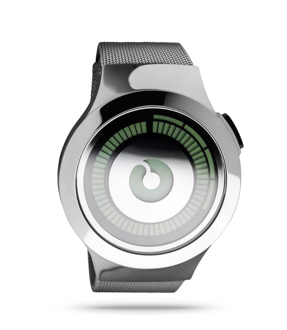 ZIIIRO Saturn Silver Watch Perspective