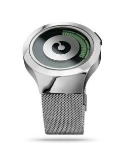 ZIIIRO Saturn Silver Watch Perspective Side