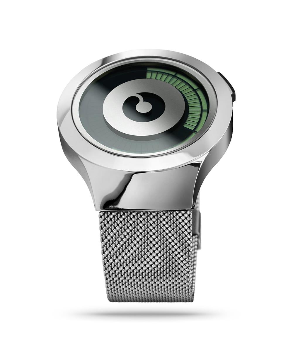 ZIIIRO Saturn Silver Watch Perspective Side