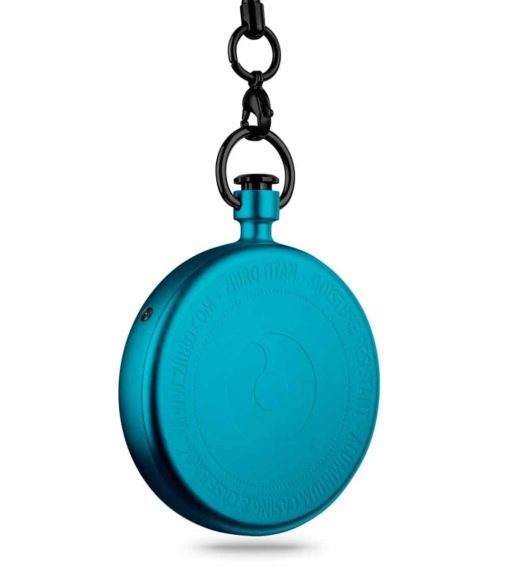 ZIIIRO Titan Azure Pocket Watch Back