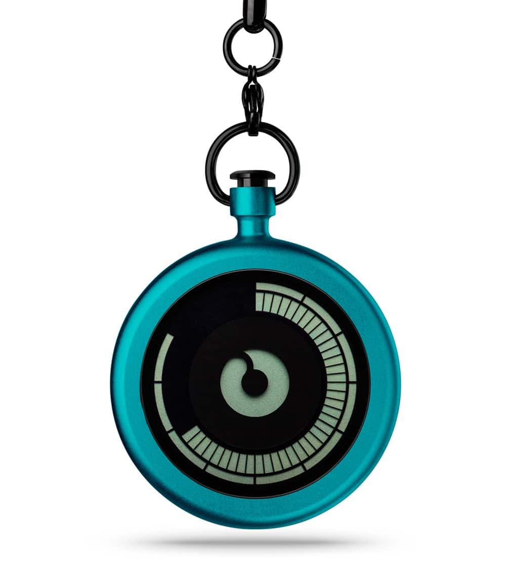 ZIIIRO Titan Azure Pocket Watch Front