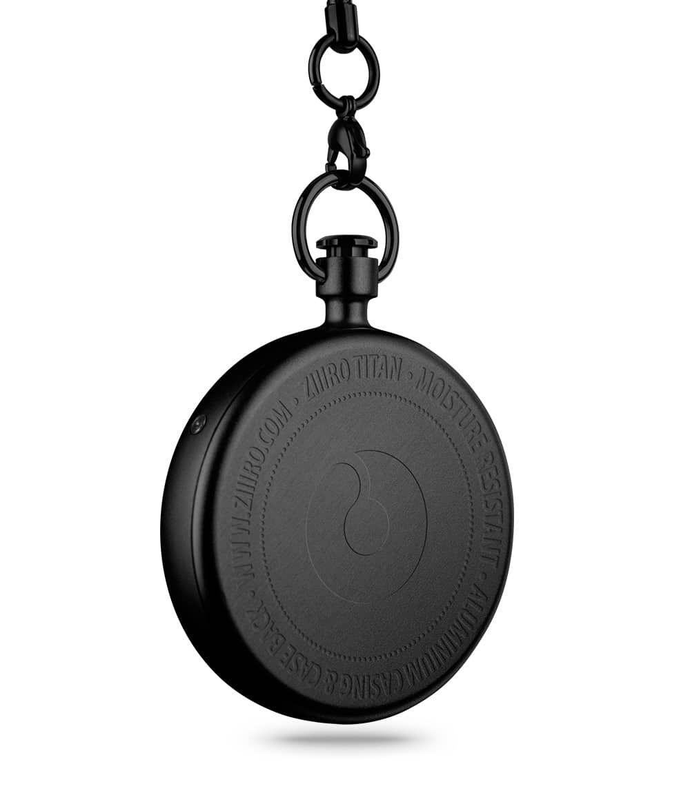 ZIIIRO Titan Black Pocket Watch Back