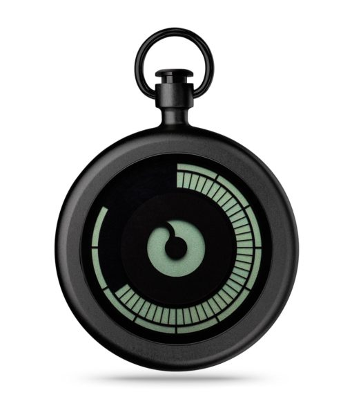 ZIIIRO Titan Black Pocket Watch Front