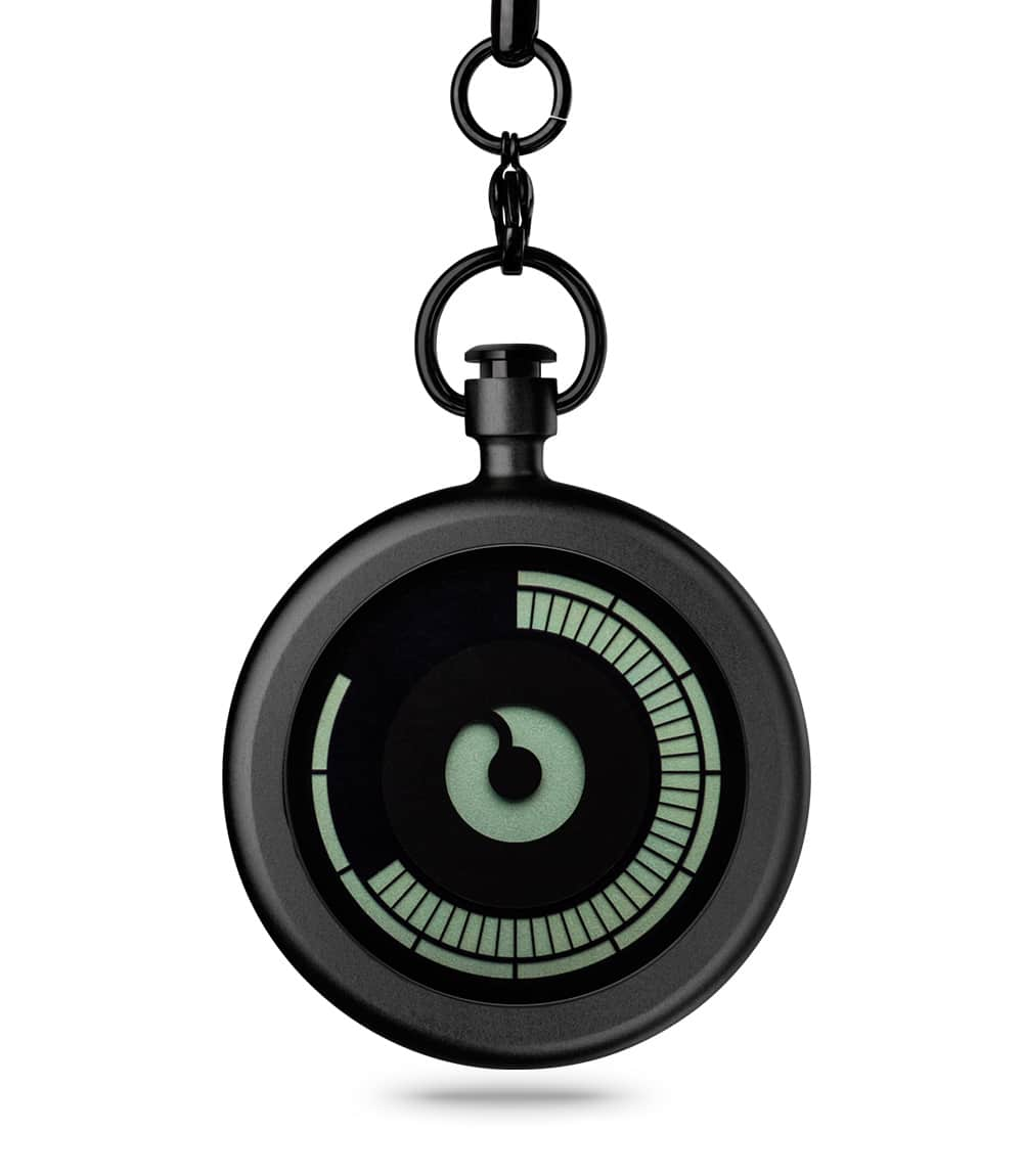 ZIIIRO Titan Black Pocket Watch Front