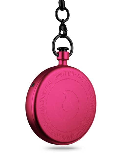 ZIIIRO Titan Cherry Pocket Watch Back