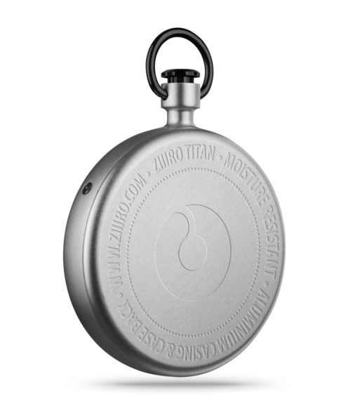 ZIIIRO Titan Chrome Pocket Watch Back