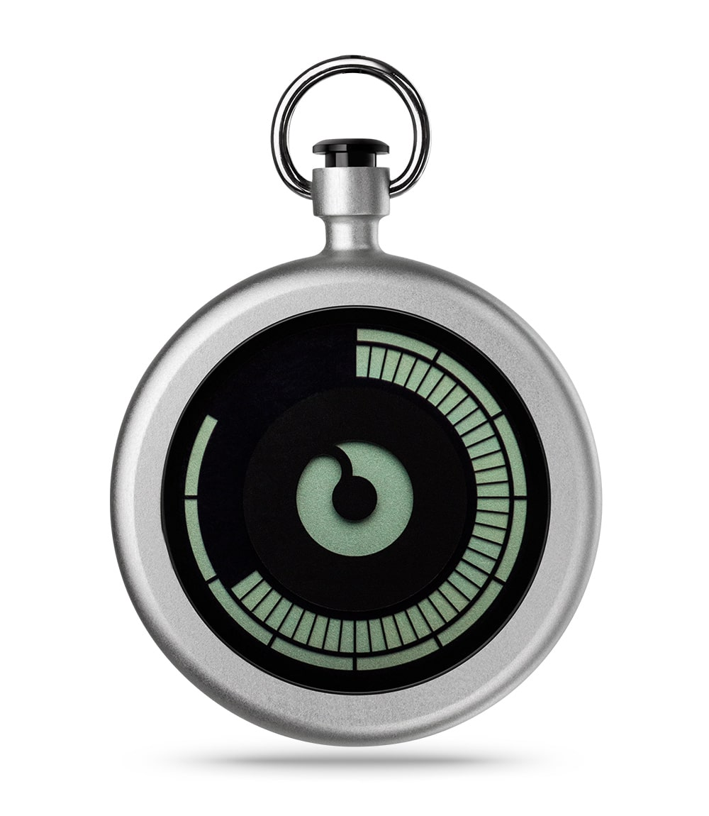 ZIIIRO Titan Chrome Pocket Watch Front