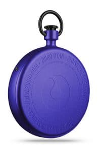 ZIIIRO Titan Purple Pocket Watch Back