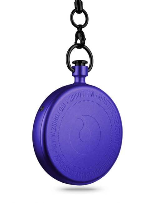 ZIIIRO Titan Purple Pocket Watch Back