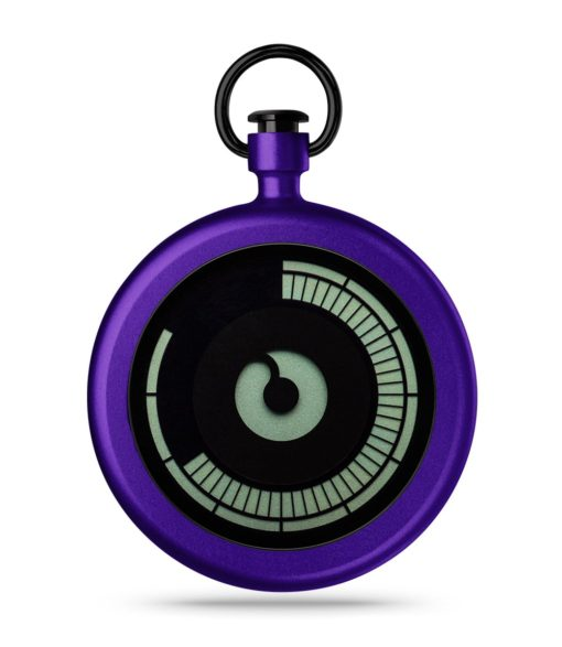 ZIIIRO Titan Purple Pocket Watch Front