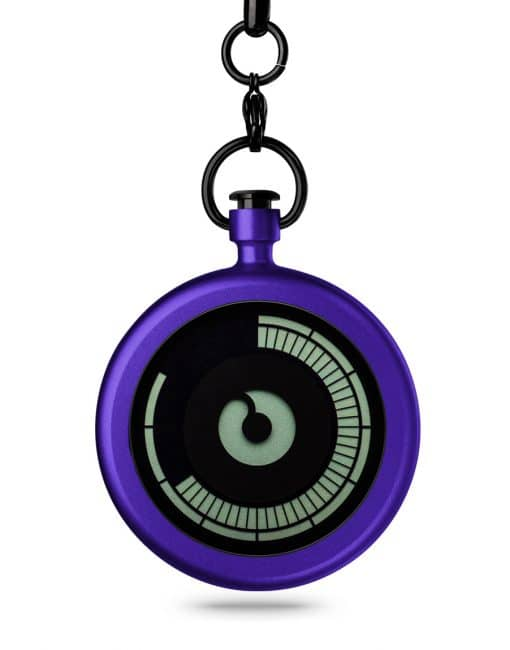 ZIIIRO Titan Purple Pocket Watch Front
