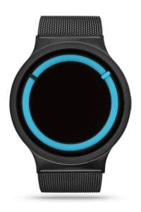 ZIIIRO Eclipse Metallic Black Ocean Watch Front