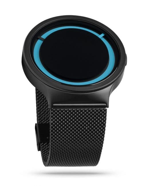 ZIIIRO Eclipse Metallic Black Ocean Watch