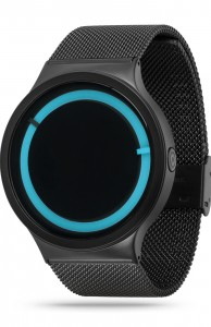 ZIIIRO Eclipse Metallic Black Ocean Watch Side