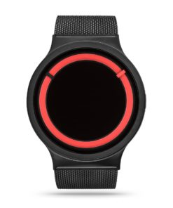 ZIIIRO Eclipse Metallic Black Red Watch Front