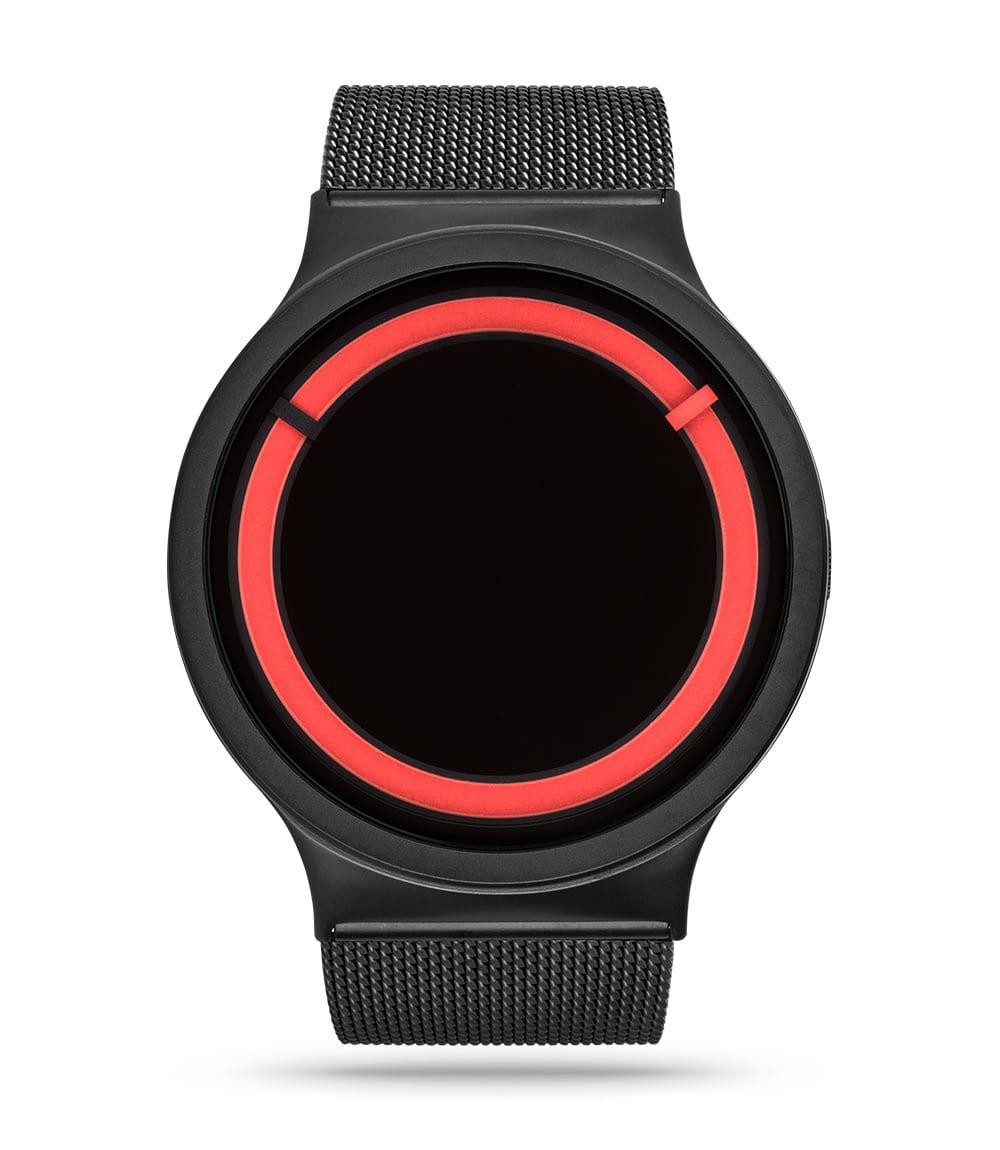 ZIIIRO Eclipse Metallic Black Red Watch Front