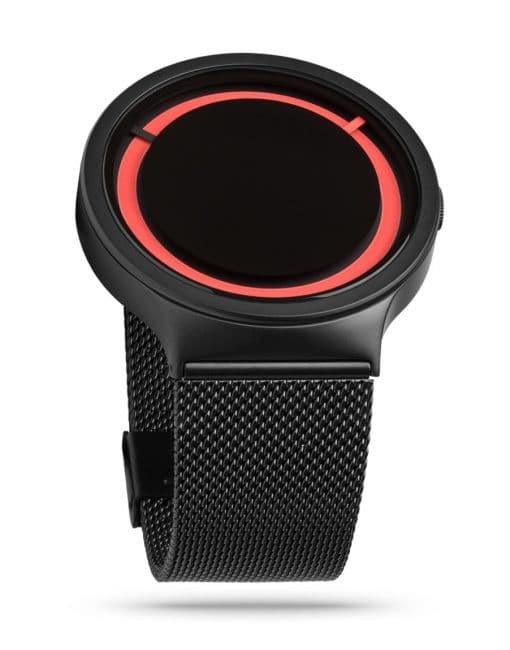 ZIIIRO Eclipse Metallic Black Red Watch
