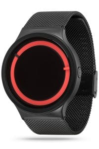 ZIIIRO Eclipse Metallic Black Red Watch Side