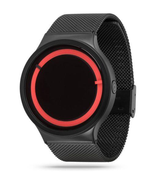 ZIIIRO Eclipse Metallic Black Red Watch Side