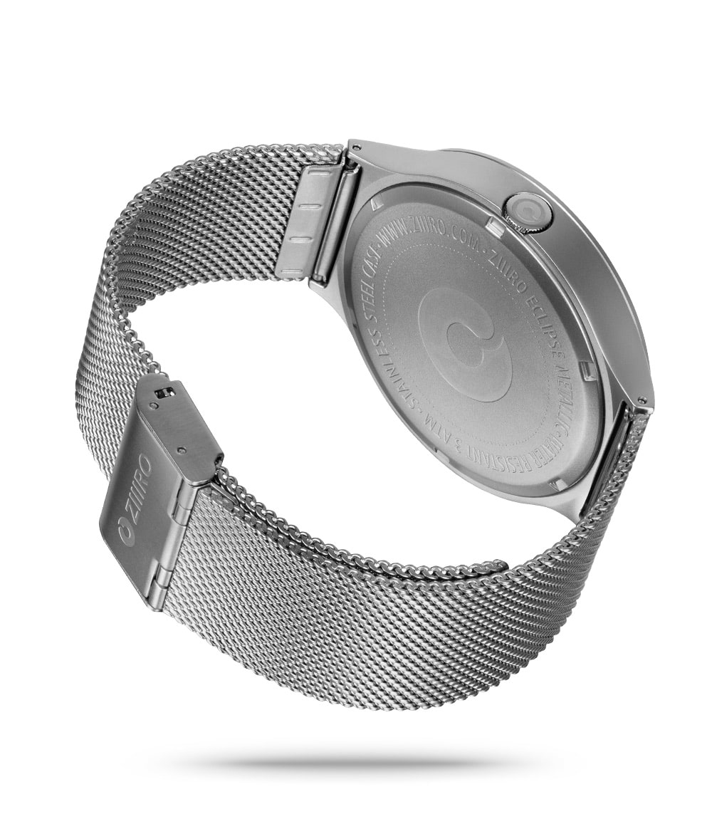 ZIIIRO Eclipse Metallic Chrome Watch Back