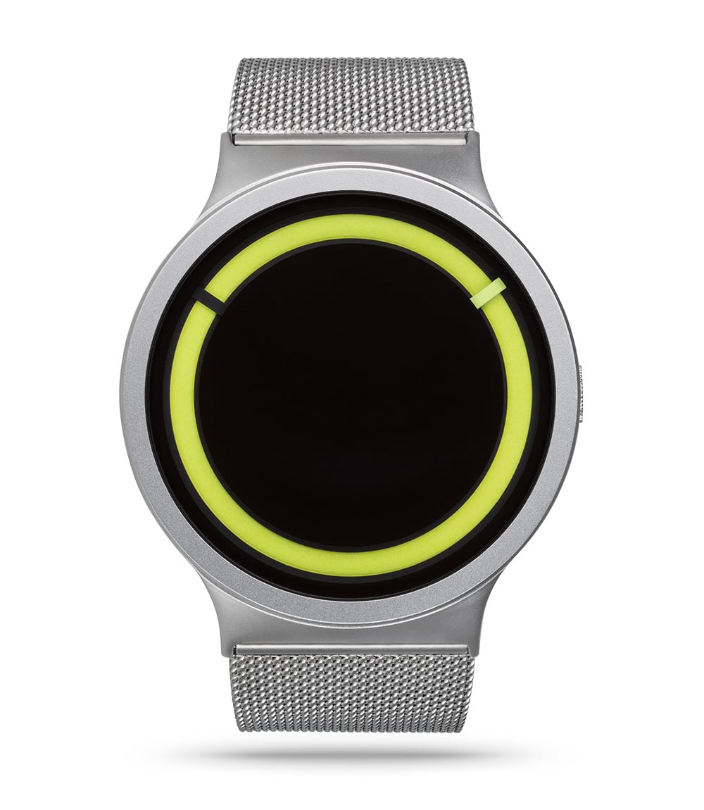 ZIIIRO Eclipse Metallic Chrome Lemon Watch Front
