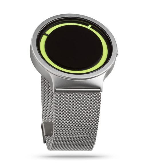 ZIIIRO Eclipse Metallic Chrome Lemon Watch