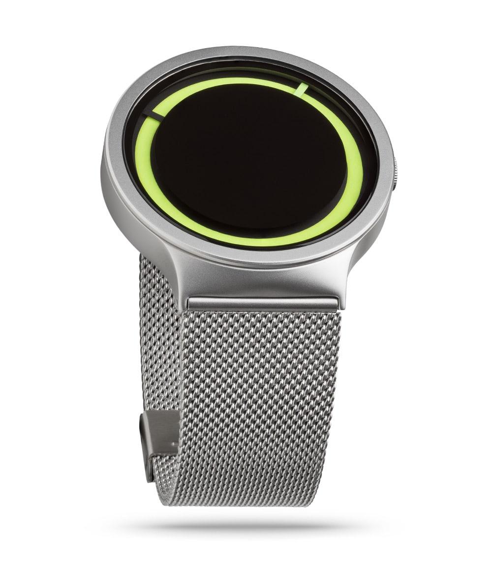 ZIIIRO Eclipse Metallic Chrome Lemon Watch