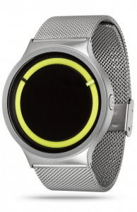 ZIIIRO Eclipse Metallic Chrome Lemon Watch Side