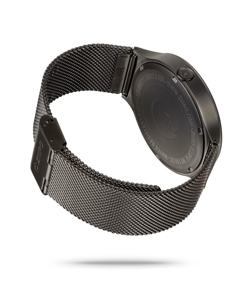 ZIIIRO Eclipse Metallic Gunmetal Watch Back