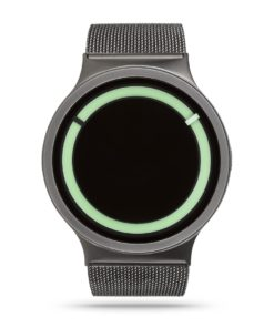 ZIIIRO Eclipse Metallic Gunmetal Mint Watch Front