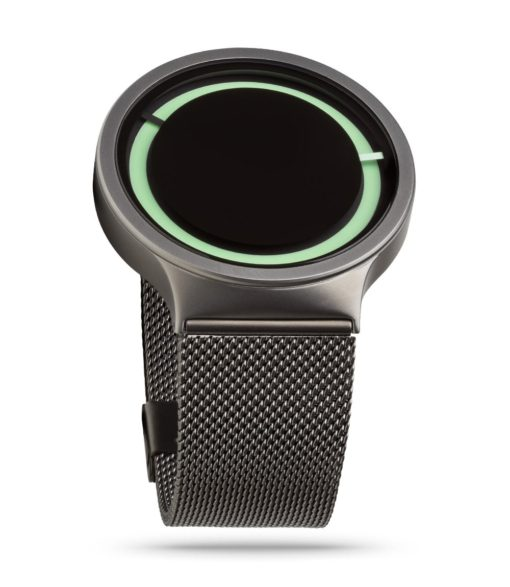 ZIIIRO Eclipse Metallic Gunmetal Mint Watch