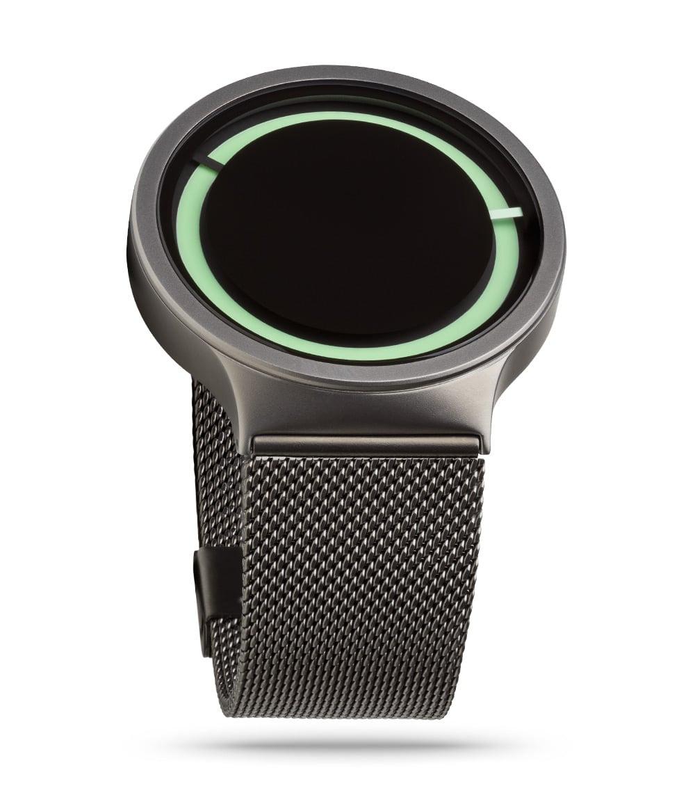 ZIIIRO Eclipse Metallic Gunmetal Mint Watch