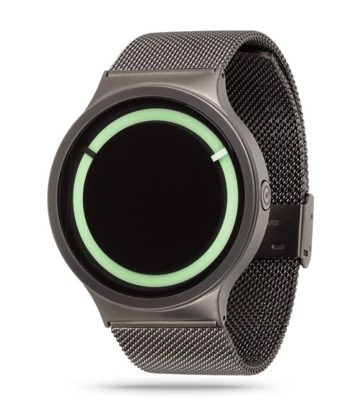 ZIIIRO Eclipse Metallic Gunmetal Mint Watch Side