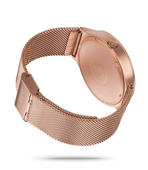 ZIIIRO Eclipse Metallic Rose Gold Watch Back