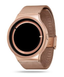 ZIIIRO Eclipse Metallic Rose Gold Watch Side