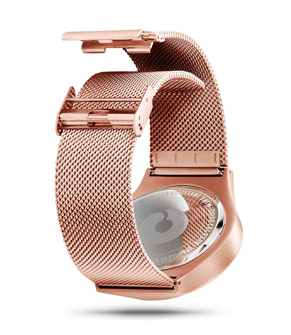 ZIIIRO Celeste rose gold purple watch (back view)