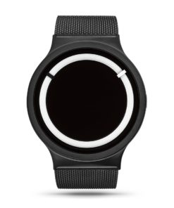 ZIIIRO Eclipse Steel Black White Watch Front