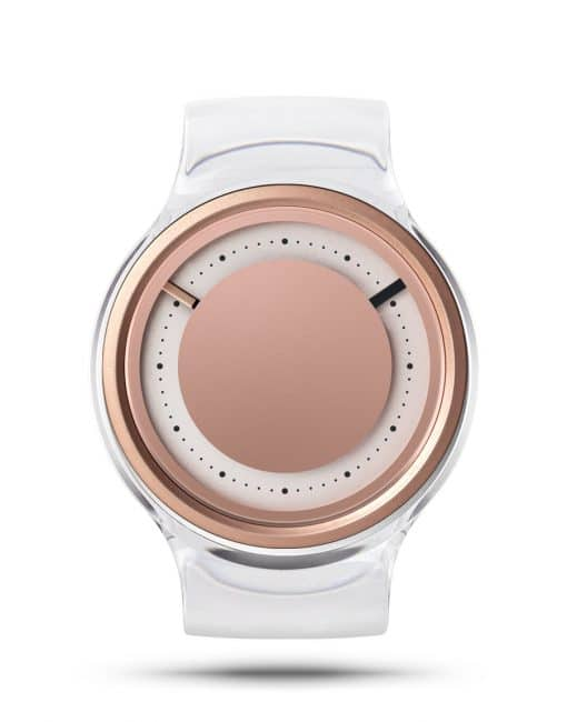 ZIIIRO Eon Transparent Clear Rose Gold Watch Front Interchangeable