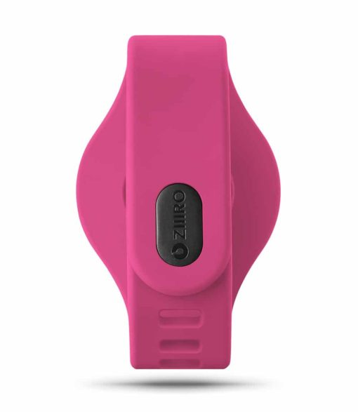 ZIIIRO Adjustable Silicone Strap in Magenta (back view)