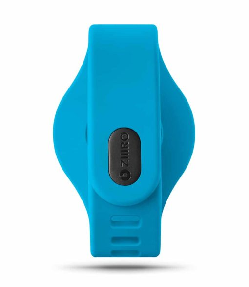 ZIIIRO Adjustable Silicone Strap in Ocean blue (back view)