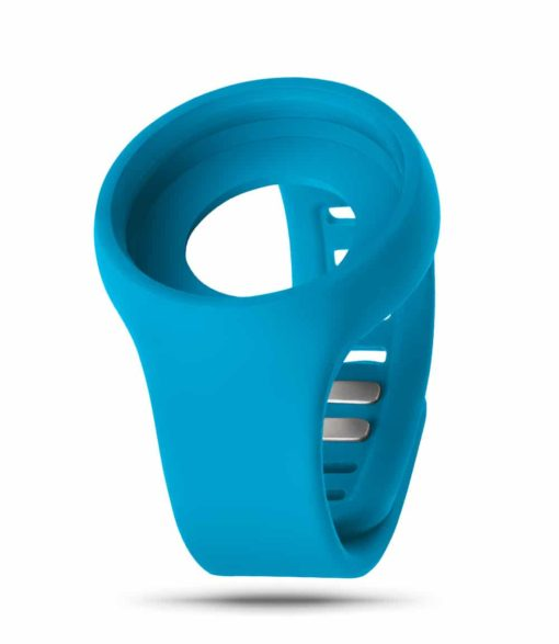 ZIIIRO Adjustable Silicone Strap in Ocean blue (front view)