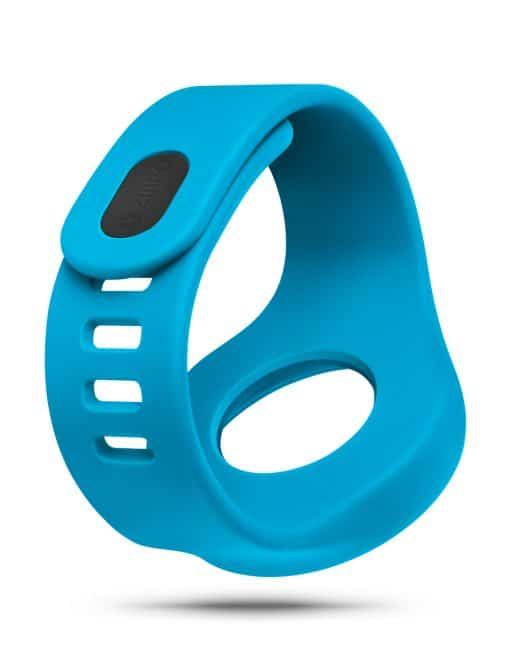 ZIIIRO Adjustable Silicone Strap in Ocean blue (diagonal view)