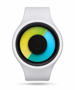ZIIIRO Aurora Plus+ (Snow White & Colored) Interchangeable Watch - front view